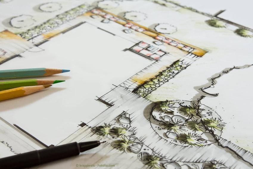 Gartenplanung: Der Profi zeichnet ihre Ideen