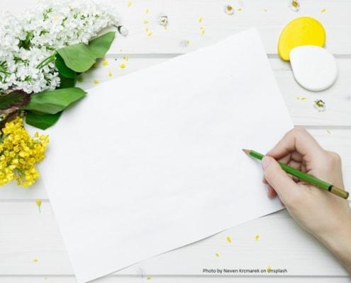 Ein weisses Kopierpapier ist oft der Anfang zahlreicher Ideen.