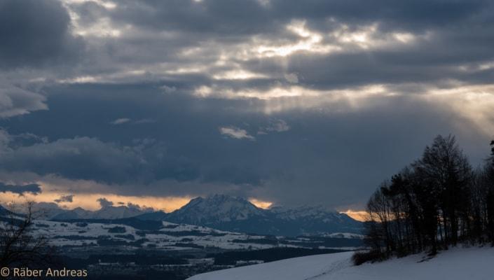 Sicht aus dem Zürcher Oberland in Richtung Innerschweiz