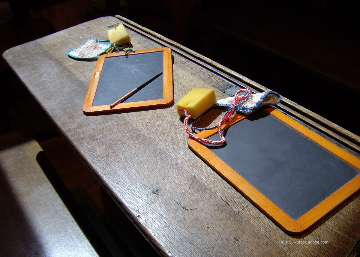 Nostalgie pur: Die alten Schreibpulte von früher